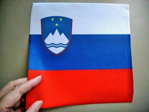 スロヴェニア国旗柄のクロス1