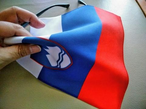 スロヴェニア国旗柄のクロス2