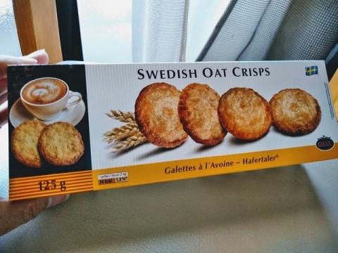 スウェーデン製オーツ麦クリスプビスケット1