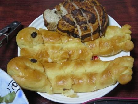 さんまパンとくじらのへそパン