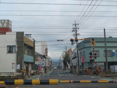 JR東海道本線豊橋近くの踏み切り