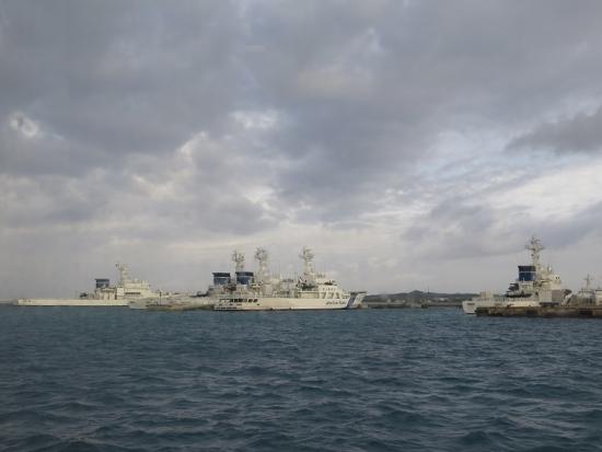 石垣島近海 海保の船