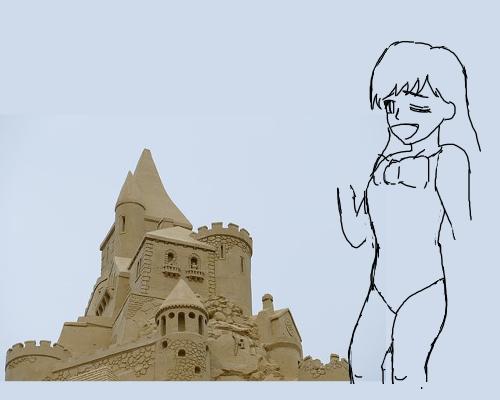 砂城 ゆーこ 水色