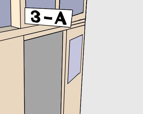 修正 3年A組 入口 とりあえず