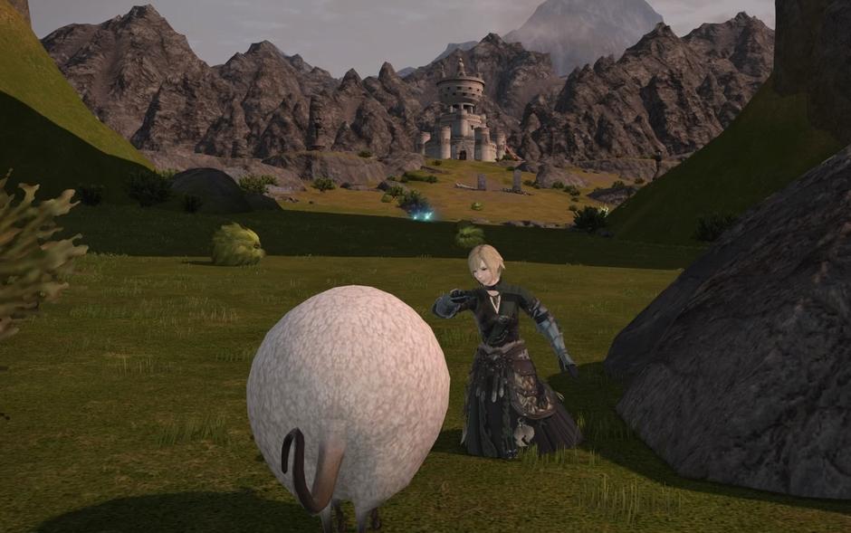 羊にエモート