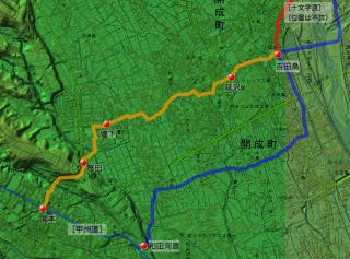 松浦武四郎「東海道山すじ日記」吉田島〜関本の近道