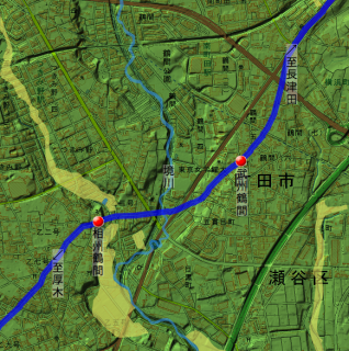相州鶴間・武州鶴間の位置