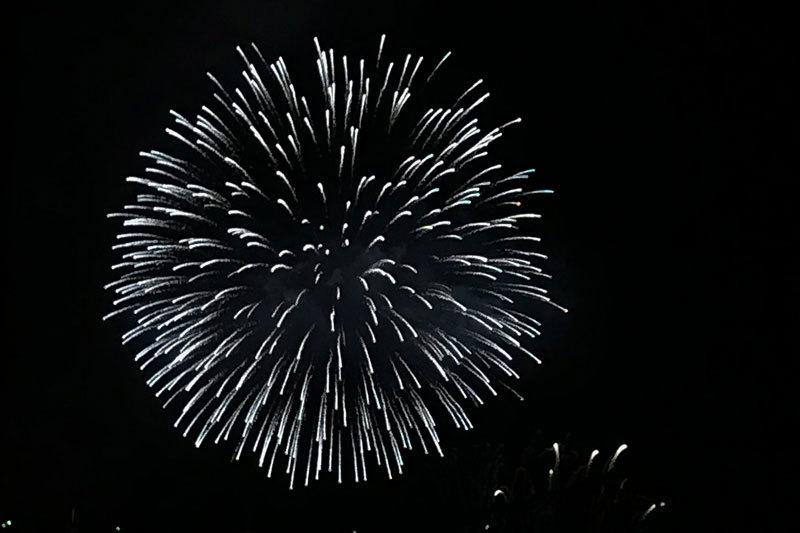 Lotto Quebecの花火。