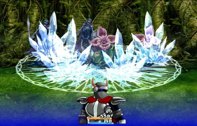 自作巨大氷魔法陣 (2)