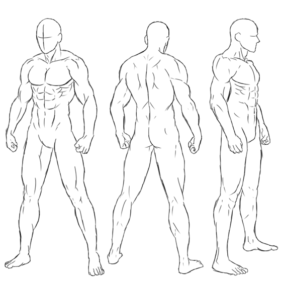 筋肉ポーズなぞって練習1