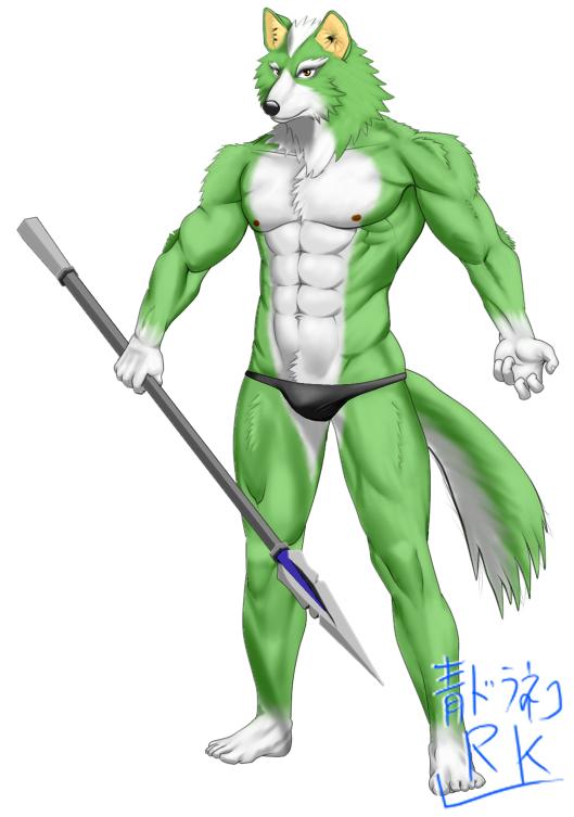 獣人兵 槍緑