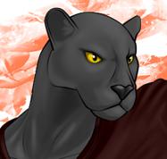 黒豹ヒーローポーズ陰影着け顔