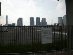 築地に通じる豊洲大橋 工事中