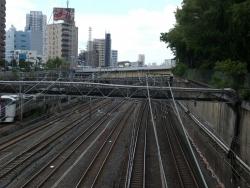 品川 八ツ山橋から撮った写真 開削跡