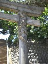 品川神社 双龍鳥居 拡大