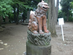 品川神社 備前焼狛犬 阿形