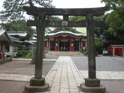 品川神社 都内で二番目に古い鳥居