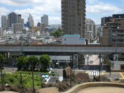 品川神社 富士塚からの展望