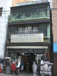 神田 看板建築 岡昌裏地ボタン店