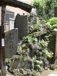 神田 柳森神社 富士講関係の石像群