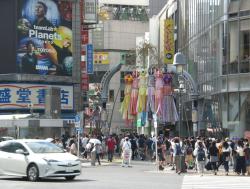 渋谷 バスケットボールストリートの人混み