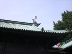 お茶の水 湯島聖堂 屋根