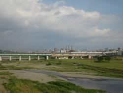 二子玉川 新丸子橋からの眺望2