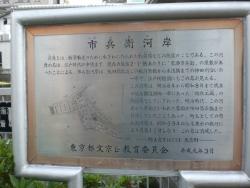 水道橋 市兵衛河岸の碑