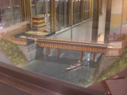東京都水道歴史 懸樋のジオラマ