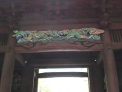 鎌倉 妙本寺 二天門 彫刻