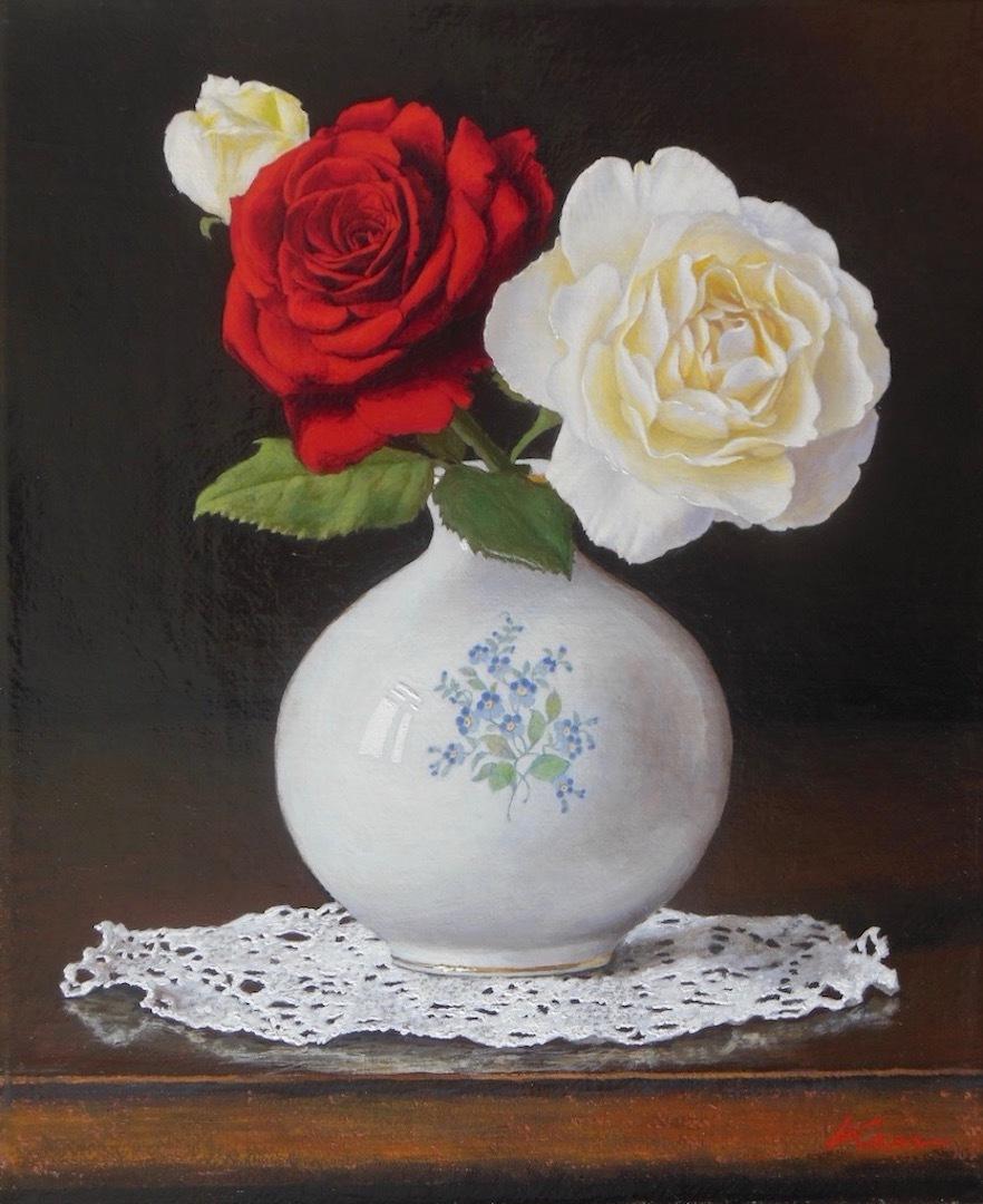 F3号「紅白の薔薇」