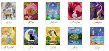 太陽と月の魔女カード 月
