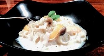 豆乳クリームパスタ