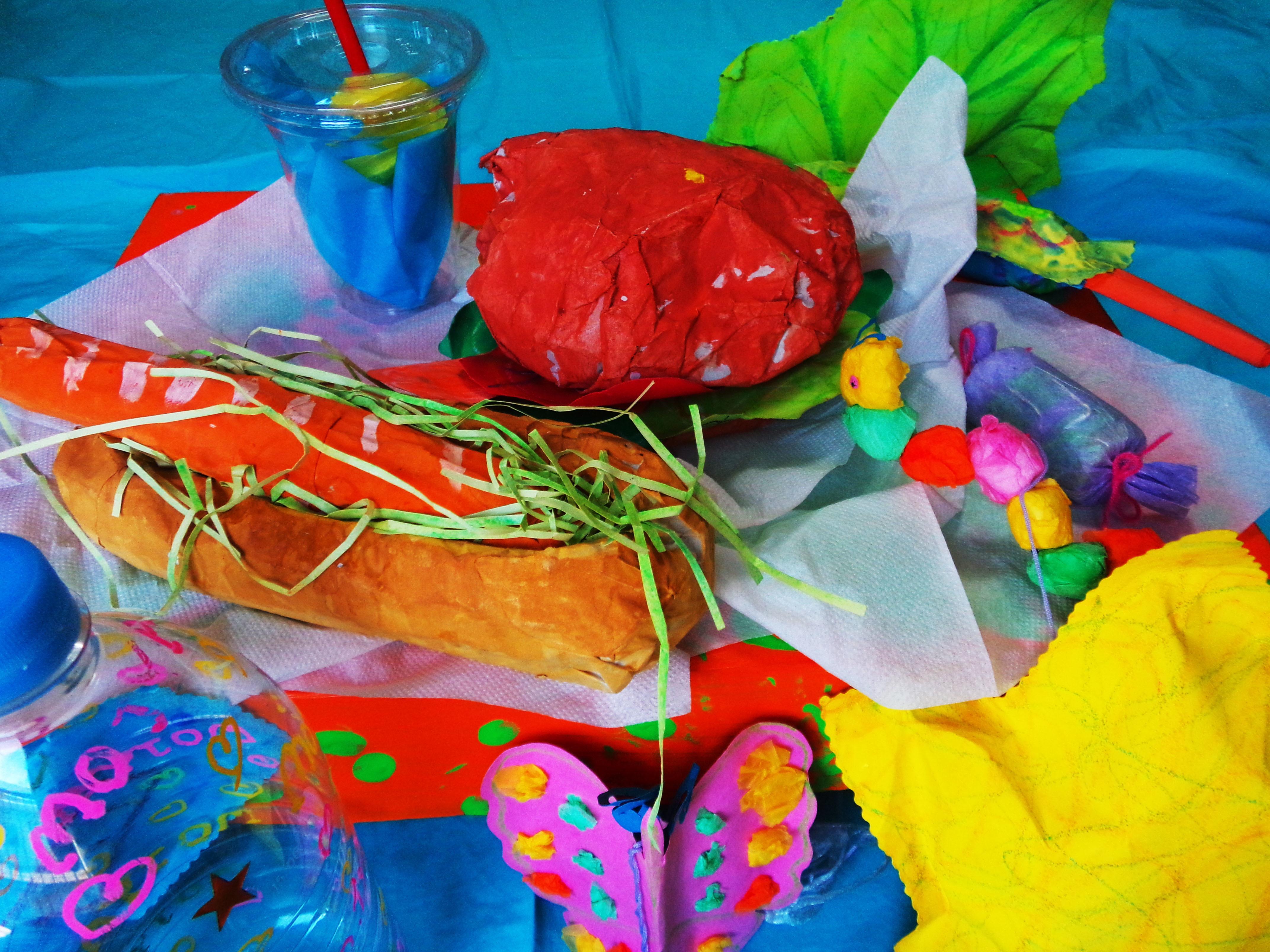 絵画造形工作 ハンバーガー パン