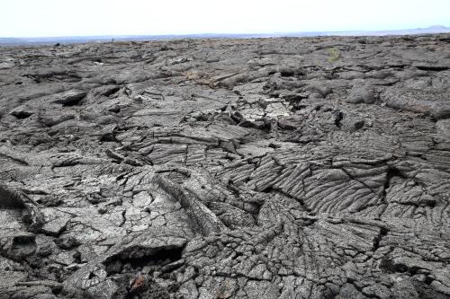 キラウエア火山のパホイホイ溶岩原