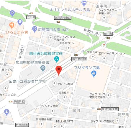 ウイング宝町ファースト地図
