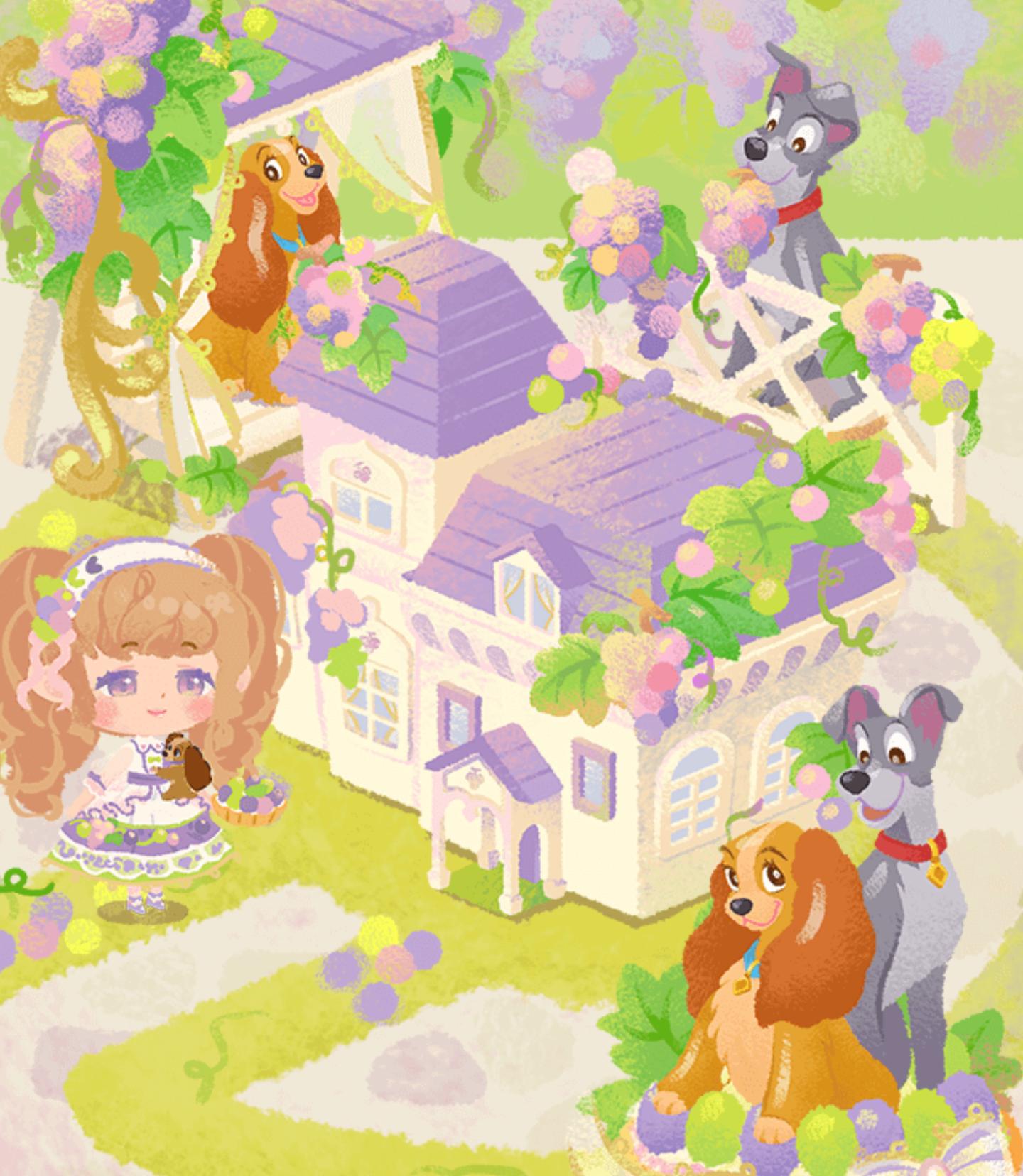 昼下がりのぶどうの庭 ガチャ全体図