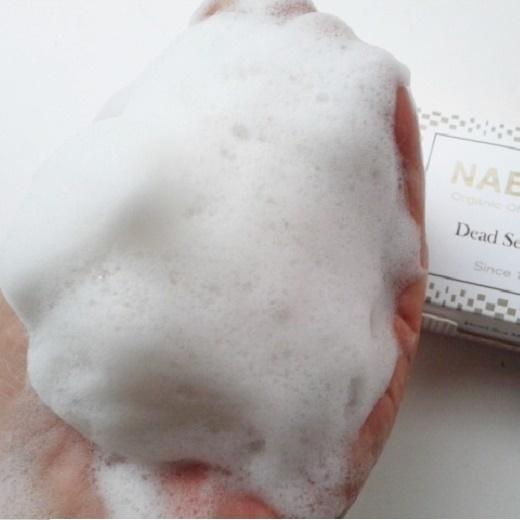 ナーブルスソープ 死海の泥 泡1