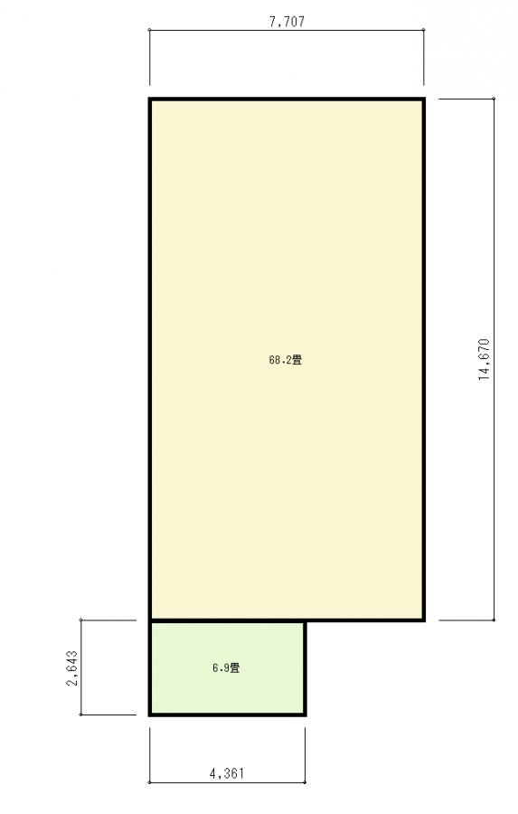 02_緑色の部屋を置く