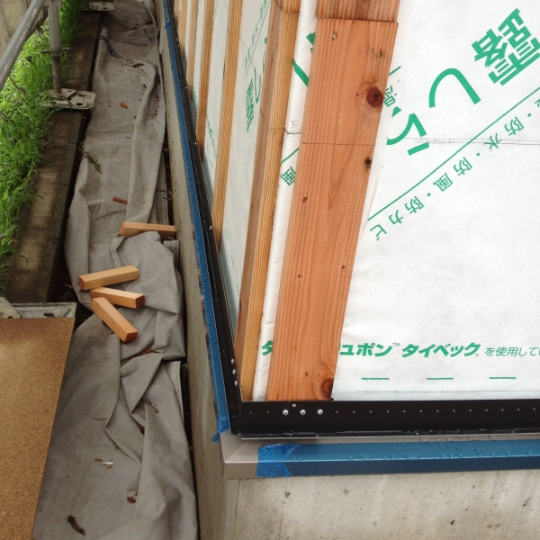 外壁を貼る前の状態