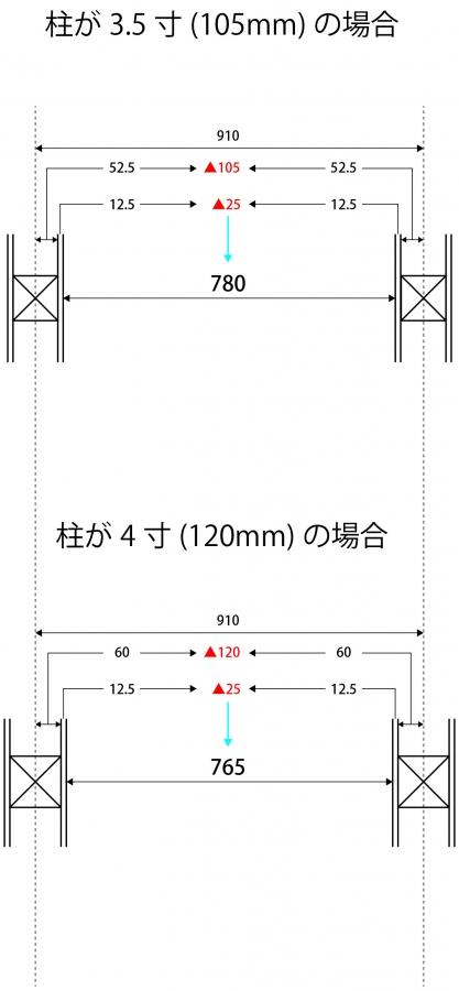 廊下の幅4寸との比較