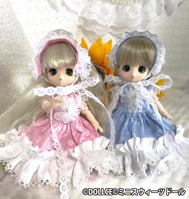 [雪月夜] 小花柄 ドレス