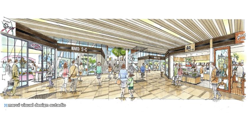 W駅プロジェクト・コンコースイメージパース