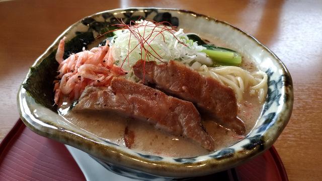 麺屋あした 濃厚白湯麺 海老の嵐