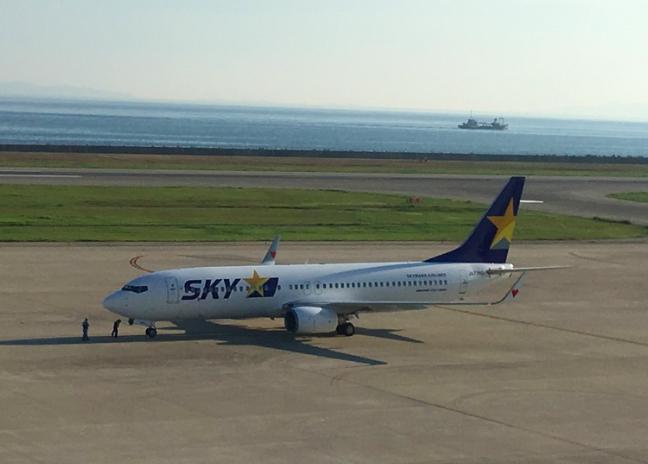 20180917神戸空港スカイマーク機