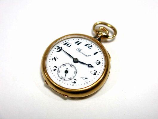 アンティーク 18K刻印 Revival 懐中時計