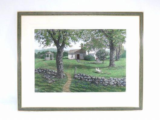 キャロル コレット リトグラフ 風景画