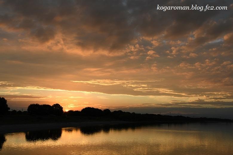 谷中湖の夏夕景