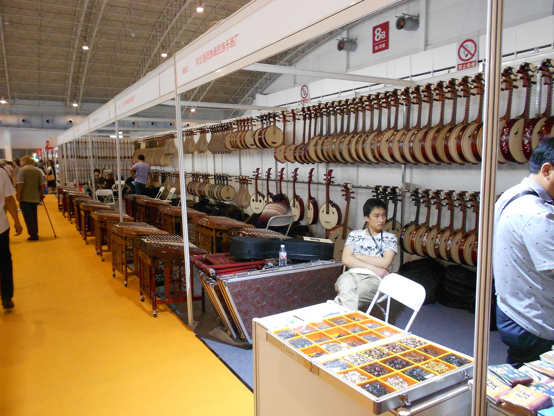 中国民族楽器展示ブース