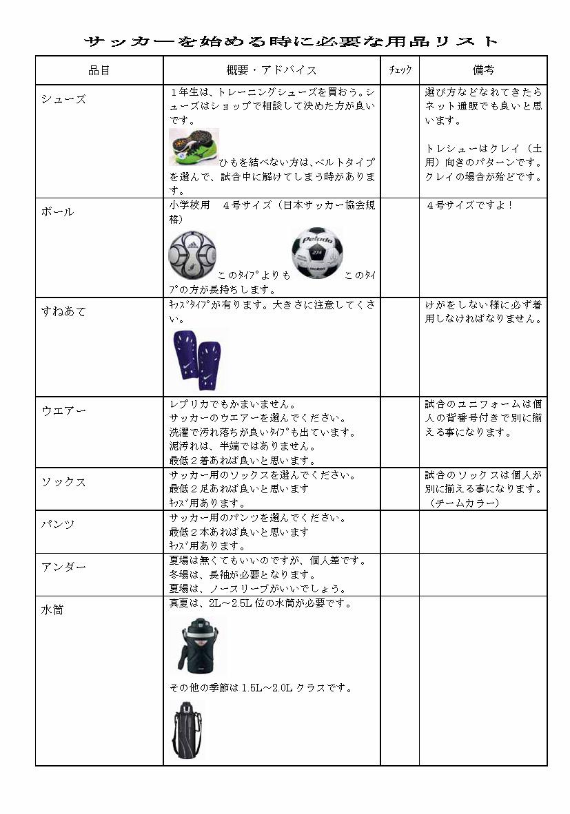 サッカーを始める時に必要な用品リスト_ページ_